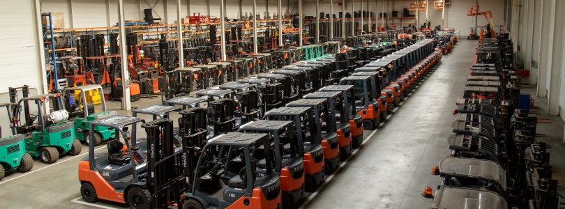 Forklifts stock at AQ-forklifts